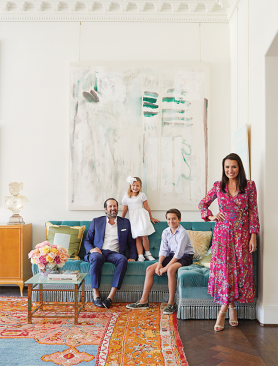 Entrepreneur Kimberly Schlegel Whitman's living room, featured in the Nov/Dec issue of Veranda magazine