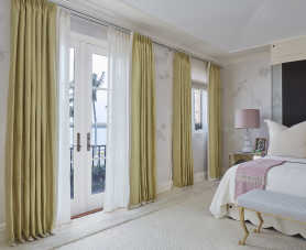 a bedroom designed for the 2019 Kips Bay Palm Beach Show House