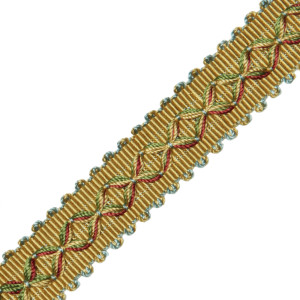 "GIMPS/BRAIDS - 7/8"" ORSAY SILK DIAMOND BRAID - 11"