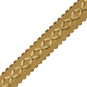 "GIMPS/BRAIDS - 7/8"" ORSAY SILK DIAMOND BRAID - 15"
