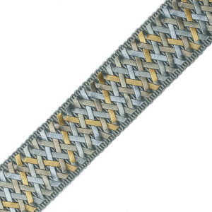 "BORDERS/TAPES - 1.4"" NORMANDY SILK HANDWOVEN BRAID - 01"