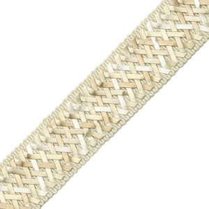 "BORDERS/TAPES - 1.4"" NORMANDY SILK HANDWOVEN BRAID - 02"