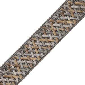 "BORDERS/TAPES - 1.4"" NORMANDY SILK HANDWOVEN BRAID - 04"