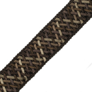 "BORDERS/TAPES - 1.4"" NORMANDY SILK HANDWOVEN BRAID - 05"