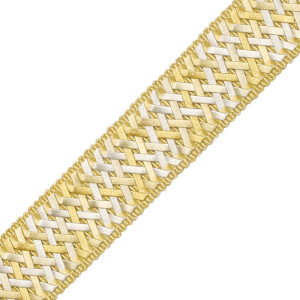 "BORDERS/TAPES - 1.4"" NORMANDY SILK HANDWOVEN BRAID - 06"