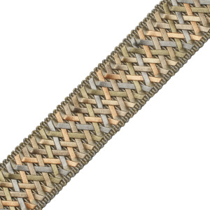 "BORDERS/TAPES - 1.4"" NORMANDY SILK HANDWOVEN BRAID - 17"
