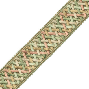 "BORDERS/TAPES - 1.4"" NORMANDY SILK HANDWOVEN BRAID - 23"