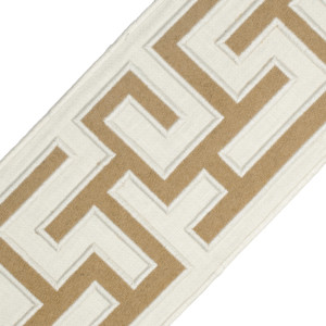 "BORDERS/TAPES - 5"" GREEK FRET EMBROIDERED BORDER - 02"