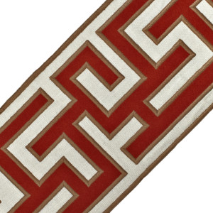 "BORDERS/TAPES - 5"" GREEK FRET EMBROIDERED BORDER - 04"