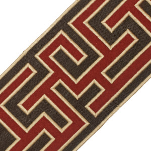 "BORDERS/TAPES - 5"" GREEK FRET EMBROIDERED BORDER - 05"