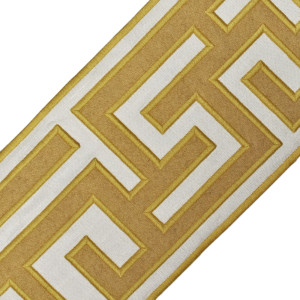 "BORDERS/TAPES - 5"" GREEK FRET EMBROIDERED BORDER - 07"