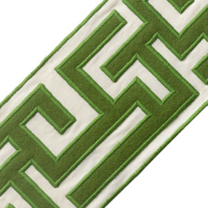 "BORDERS/TAPES - 5"" GREEK FRET EMBROIDERED BORDER - 08"