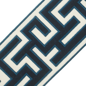 "BORDERS/TAPES - 5"" GREEK FRET EMBROIDERED BORDER - 09"