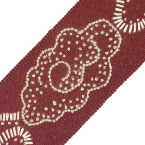 BORDERS/TAPES - CHINA CLOUD EMBROIDERED BORDER - 26