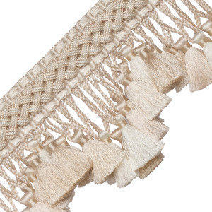 TASSEL/BALL FRINGE - CHEVALLERIE SCALLOPED TASSEL FRINGE - 08