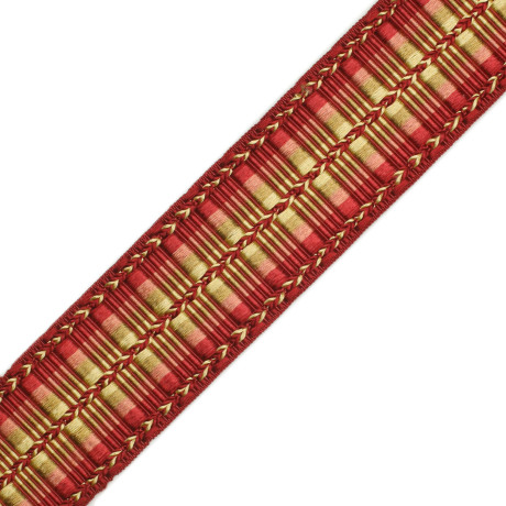 "TASSEL/BALL FRINGE - 1 5/8""ORSAY SILK RIBBED BORDER - 7"