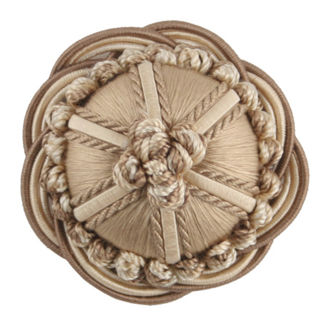 "CORD WITH TAPE - 2"" ORSAY SILK ROSETTE - 1"