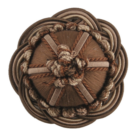 "CORD NO TAPE - 2"" ORSAY SILK ROSETTE - 10"