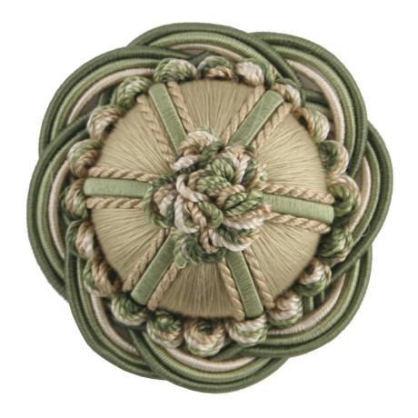 "BORDERS/TAPES - 2"" ORSAY SILK ROSETTE - 3"