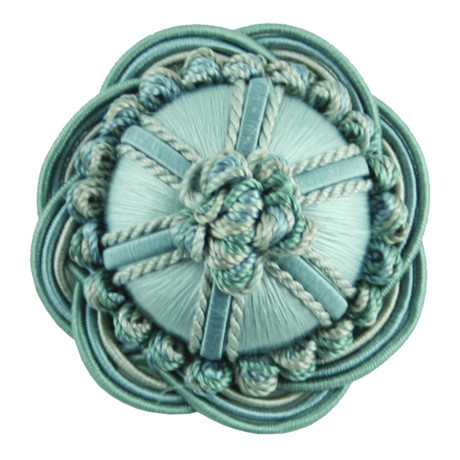 "CORD WITH TAPE - 2"" ORSAY SILK ROSETTE - 4"