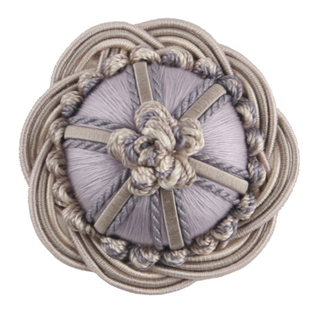 "CORD WITH TAPE - 2"" ORSAY SILK ROSETTE - 9"