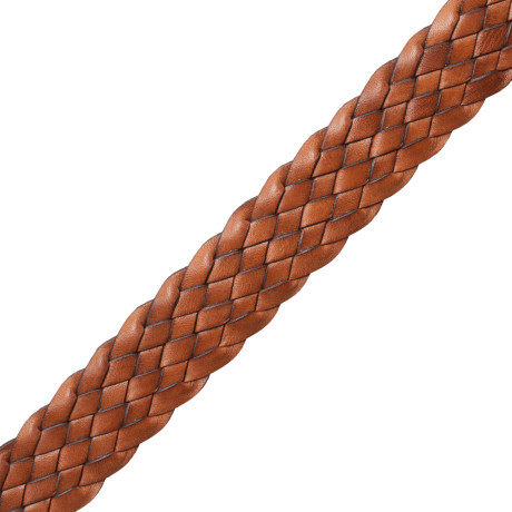 "BORDERS/TAPES - 1"" WOVEN ITALIAN LEATHER BRAID - 13"