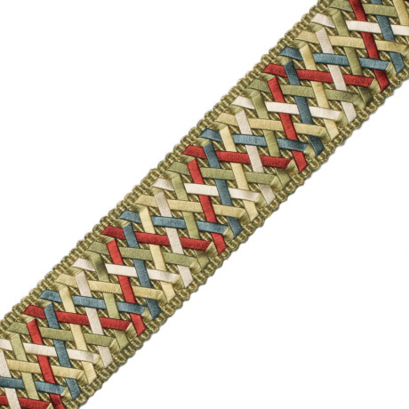 "ROSETTES/TUFTS/FROGS - 1.4"" NORMANDY SILK HANDWOVEN BRAID - 19"