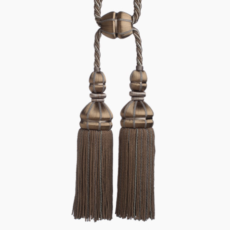 CORD WITH TAPE - AURELIA DOUBLE TASSEL TIEBACK - 27