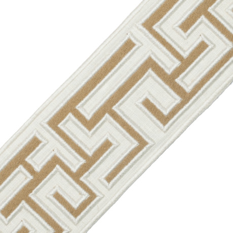 "BORDERS/TAPES - 2.75"" GREEK FRET EMBROIDERED BORDER - 02"