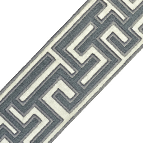 "BORDERS/TAPES - 2.75"" GREEK FRET EMBROIDERED BORDER - 14"