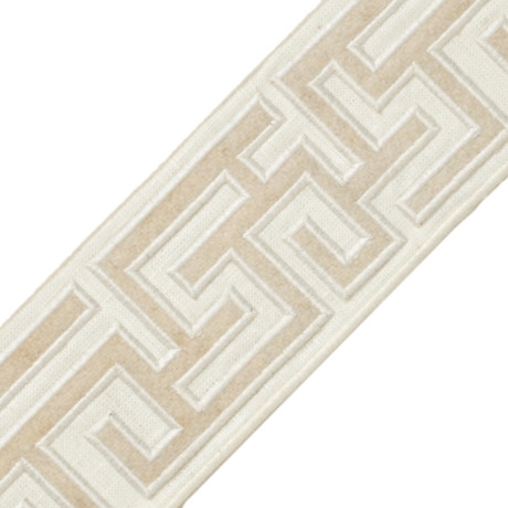 "BORDERS/TAPES - 2.75"" GREEK FRET EMBROIDERED BORDER - 21"