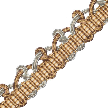 CORD WITH TAPE - PALAIS SILK SCALLOPED BRAID - 03