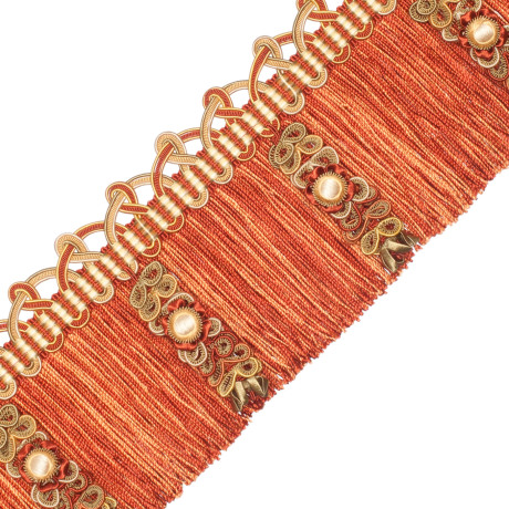 CORD WITH TAPE - PALAIS SILK FRINGE WITH JASMINES - 06