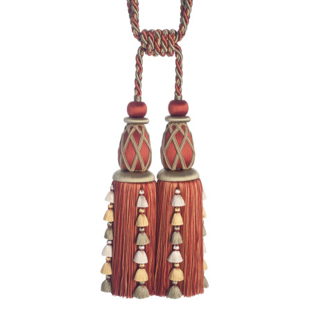 CORD WITH TAPE - PALAIS SILK DOUBLE TASSEL TIEBACK - 06