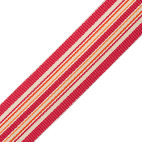 BRUSH FRINGE - SAISONS STRIPE BORDER - 04