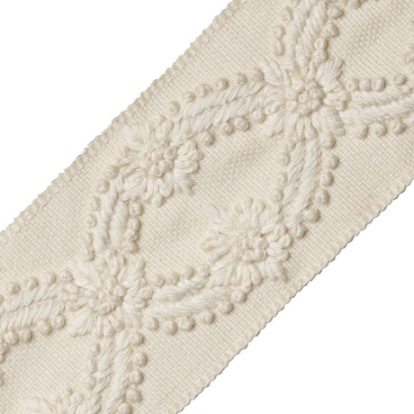 TASSEL/BALL FRINGE - ELISE EMBROIDERED BORDER - 02