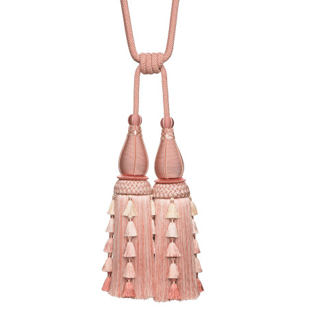 TASSEL/BALL FRINGE - CHEVALLERIE DOUBLE TASSEL TIE BACK - 01