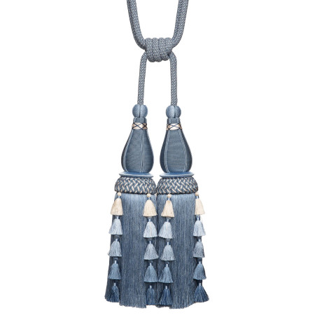 KEY TASSEL - CHEVALLERIE DOUBLE TASSEL TIE BACK - 09