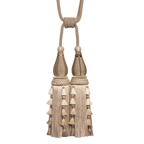 TASSEL/BALL FRINGE - CHEVALLERIE DOUBLE TASSEL TIE BACK - 10