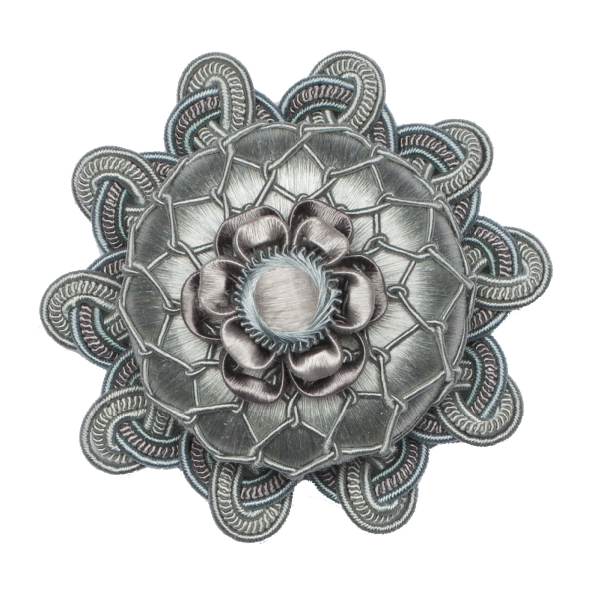 Retro Design T/ürschloss-Rosette Rosette in Nickel matt Antikas antike und neue T/üren
