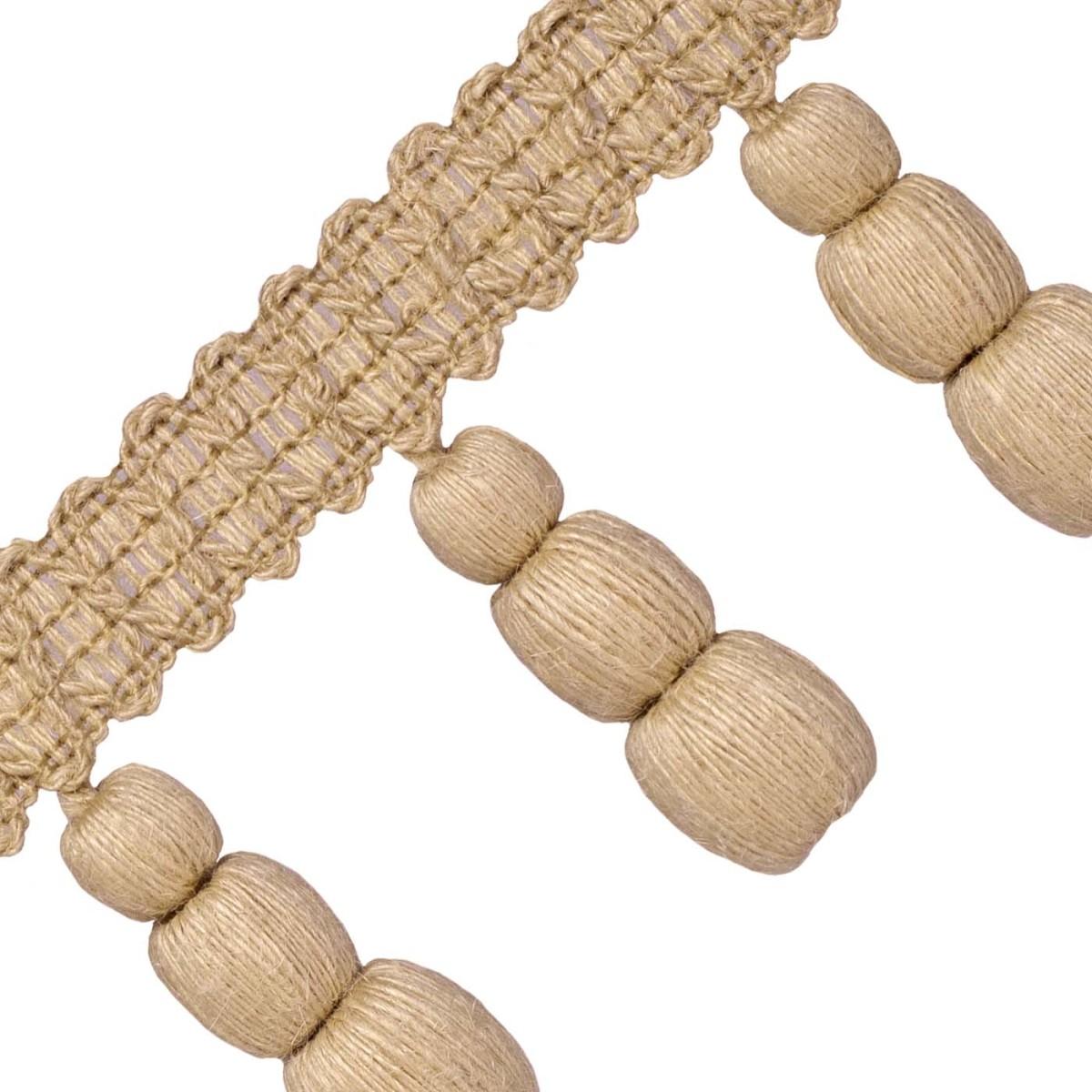 1yd  LEE JOFA Quincy Ice Hand Crafted Tassel Ball Fringe Passementerie Trim BTY