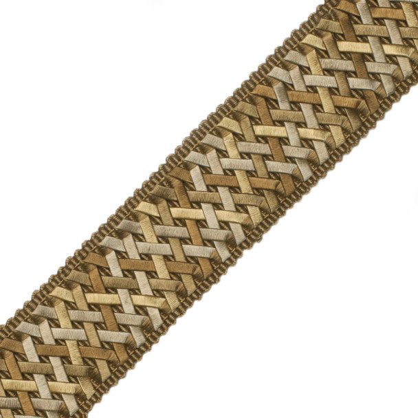 "BORDERS/TAPES - 1.4"" NORMANDY SILK HANDWOVEN BRAID - 07"