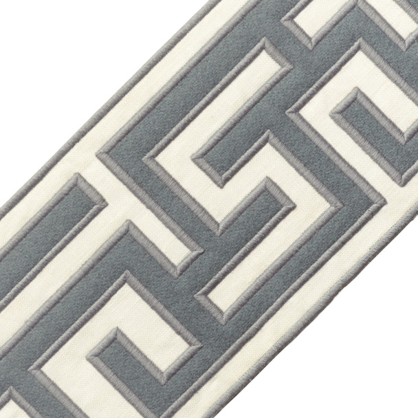"BORDERS/TAPES - 5"" GREEK FRET EMBROIDERED BORDER - 14"