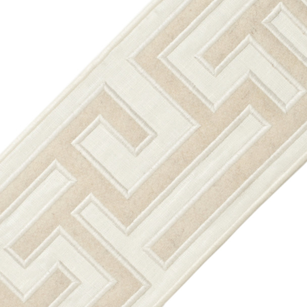 "BORDERS/TAPES - 5"" GREEK FRET EMBROIDERED BORDER - 21"